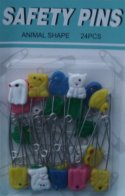 Animal Diaper Pins
